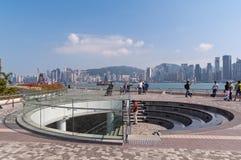 Avenue des étoiles à Hong Kong Photographie stock libre de droits