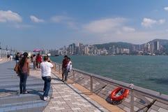 Avenue des étoiles à Hong Kong Images libres de droits