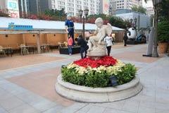 Avenue des étoiles comiques en Hong Kong Image libre de droits