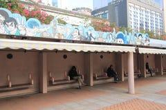 Avenue des étoiles comiques en Hong Kong Images stock