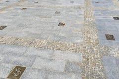 Avenue des étoiles dans Miedzyzdroje Photographie stock libre de droits