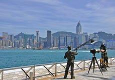 Avenue des étoiles, Hong Kong Images libres de droits