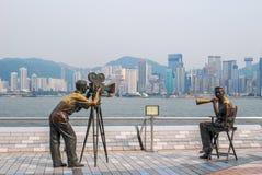 Avenue des étoiles, Hong Kong Images stock