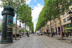Avenue  des champa élysées, paris, France Royalty Free Stock Photo