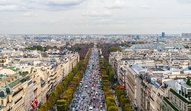 Avenue des Champs-�lysées. Paris Royalty Free Stock Image
