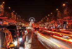 Avenue des Champs-Ãlysées Στοκ εικόνες με δικαίωμα ελεύθερης χρήσης