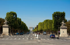 The Avenue des Champs-�lysées. Royalty Free Stock Image