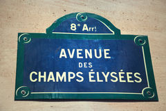 Avenue des Champs-Elysees Stock Afbeeldingen