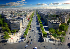 Avenue des Champs Elysees Στοκ Εικόνα