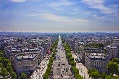 Avenue des Champs-Elysees, PARIS. The Avenue des Champs-Elysees, PARIS, France Royalty Free Stock Photography