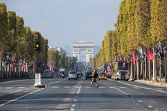 The Avenue des Champs-Elysees Stock Photos