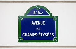 Avenue Des Champs-Elysees in Paris Stock Image
