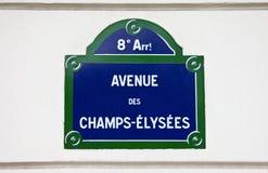Avenue Des Champs-Elysees in Paris. A Street sign for Avenue des Champs-Elysees in Paris stock image