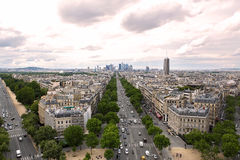 Avenue des Champs-elysees paris top view to town roads. Avenue des Champs-elysees paris world places here royalty free stock photos