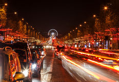 Avenue des Champs-?lysées Royalty-vrije Stock Afbeeldingen