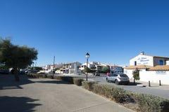 Avenue du Dr. Cambon, Saintes-Maries-de-la-Mer, France Images libres de droits