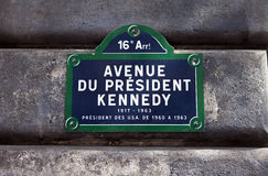 Avenue du President Kennedy in Paris Royalty Free Stock Image