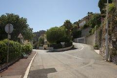 Avenue du Soleil dOr, Villefranche-sur-Mer, France Stock Image
