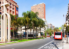 Avenue Federico Soto in Alicante Royalty Free Stock Photo