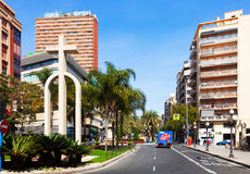 Avenue Federico Soto in Alicante Royalty Free Stock Images