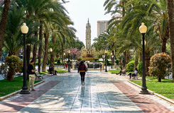 Avenue Federico Soto in Alicante. Spain Royalty Free Stock Photos