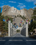 Avenue of Flags at Mt Rushmore Royalty Free Stock Image