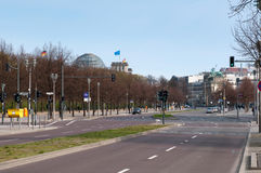 The avenue on former place of Berlin wall Royalty Free Stock Photography