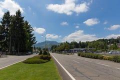 Avenue Francois Abadie leading into Lourdes Royalty Free Stock Image