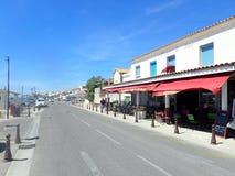 Avenue Gilbert Leroy, Saintes-Maries-de-la-Mer, France Photo libre de droits