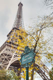 Avenue Gustave Eiffel sign in Paris, France Stock Photo