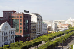 Avenue Habib Bourguiba, Tunis, Tunisia Royalty Free Stock Photography