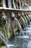 The Avenue of Hundred Fountains. The avenue of one hundred fountains at villa DEste in Tivoli Stock Image