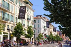 Avenue Jean Medecin - Nice Royalty Free Stock Images