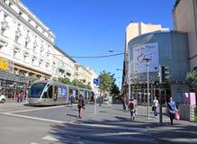 Avenue Jean-Medecin in Nice, France Royalty Free Stock Image