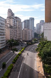 Avenue July 9th  in sao paulo Royalty Free Stock Photo