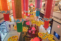 Avenue K Shopping mall interior. Kuala Lumpur, Malaysia - Jan 07, 2016: Avenue K Shopping mall interior. Work in process of decoration the Chinese New Year of Royalty Free Stock Photography