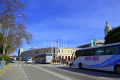 Avenue l'Estadi Olympic park,Barcelona Stock Photography