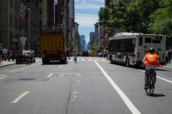 Avenue in Manhattan Stock Photos