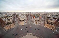 Avenue Marceau, avenue des Champs-Elysees Stock Photography