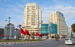 Avenue Mohammed VI in Tangier, Morocco Stock Photos