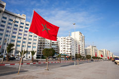 Avenue Mohammed VI in Tangier, Morocco. Avenue Mohammed VI in new part of Tangier, Morocco Stock Image