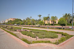 Avenue Mohammend VI in Marrakech Royalty Free Stock Photography