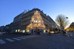 Avenue Montaigne à Paris photographie stock