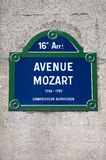 Avenue Mozart in Paris Royalty Free Stock Image