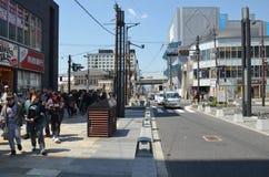 Avenue Nara Japan de Sanjo-dori Photographie stock
