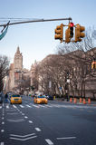 Avenue in New York City. Crossroad in New York City Royalty Free Stock Photography