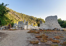 Avenue of North Necropolis. Ruins of ancient city Olympos in Lycia. Turkey Royalty Free Stock Images