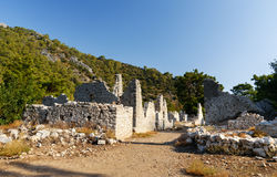 Avenue of North Necropolis. Ruins of ancient city Olympos in Lycia. Turkey Royalty Free Stock Photography