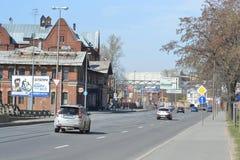 Avenue Obukhov Defense, outskirts of St.Petersburg. Stock Images