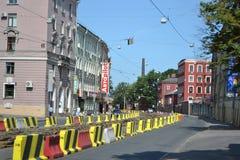 Avenue Obukhov Defense, outskirts of St.Petersburg. Royalty Free Stock Image